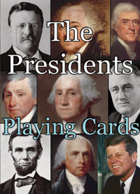 Box Front of Presidents Playing Cards deck