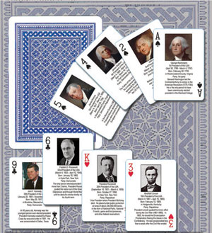 Cover Art of Presidents Playing Cards deck